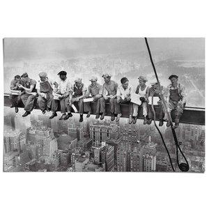 Poster Arbeiders boven New York
