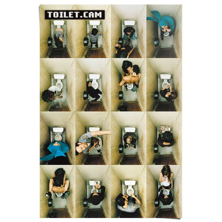 WC-poster Toilet.cam - Poster 61 x 91.5 cm