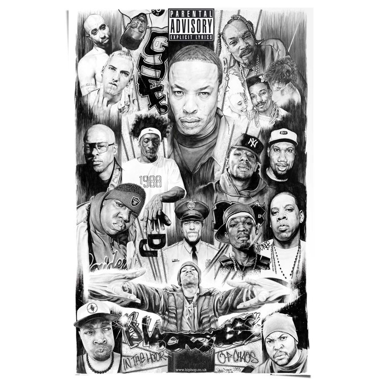 Rappers 2  - Poster 61 x 91.5 cm