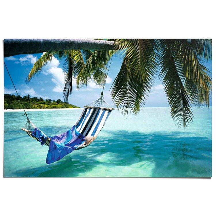 Strand hangmat  - Poster 91.5 x 61 cm
