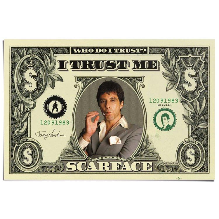 Scarface dollar  - Poster 91.5 x 61 cm