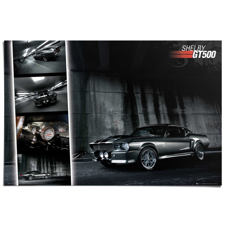 Ford Mustang GT500  - Poster 91.5 x 61 cm
