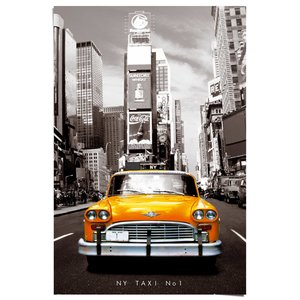Poster New York gele taxi