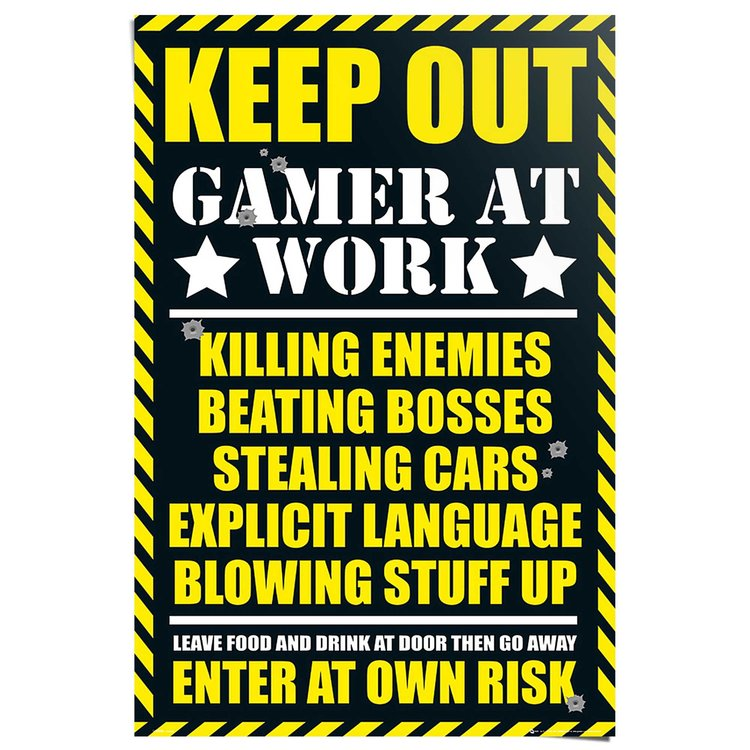 Keep Out  - Poster 61 x 91.5 cm