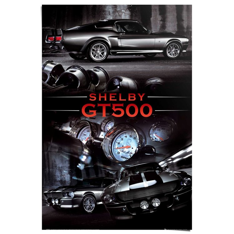 Ford Shelby gt500  - Poster 61 x 91.5 cm