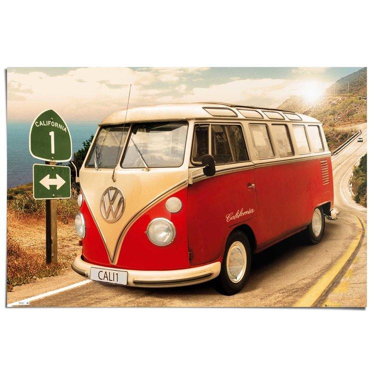 Volkswagen busje  - Poster 91.5 x 61 cm