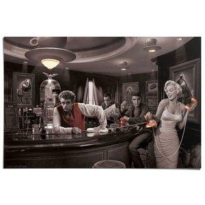 Poster Bogart, Dean, Presley & Monroe