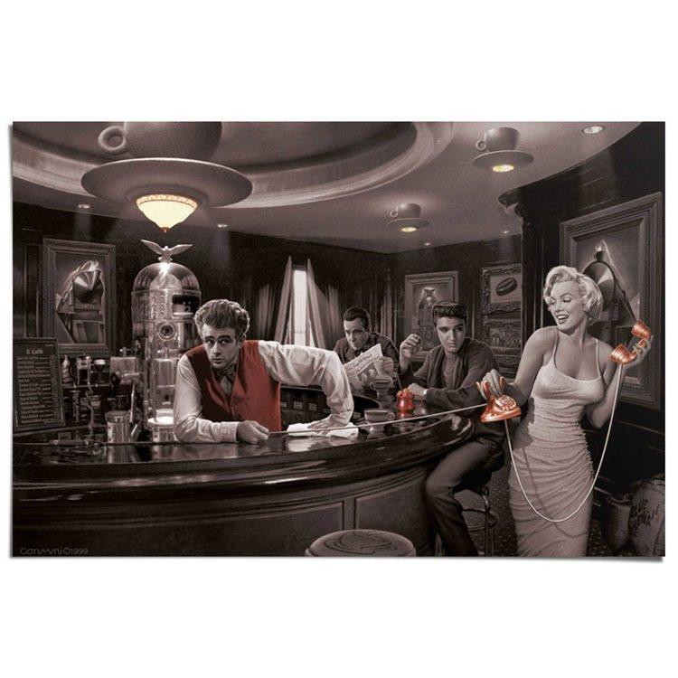 Bogart, Dean, Presley & Monroe  - Poster 91.5 x 61 cm