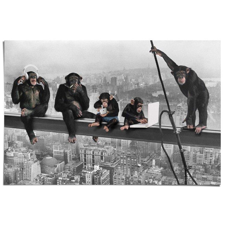 Apen boven New York  - Poster 91.5 x 61 cm