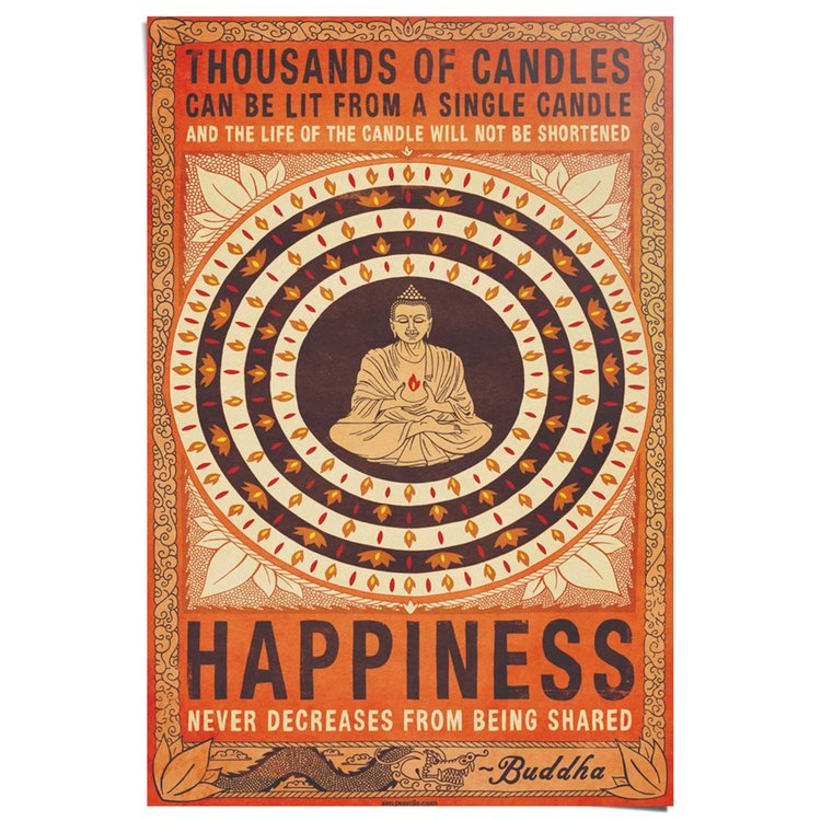 Happiness  - Poster 61 x 91.5 cm