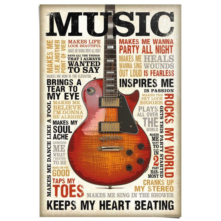 Music is Passion  - Poster 61 x 91.5 cm