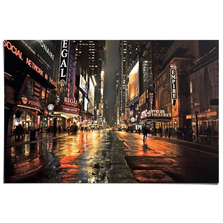 Manhattan 42nd Street 2  - Poster 91.5 x 61 cm