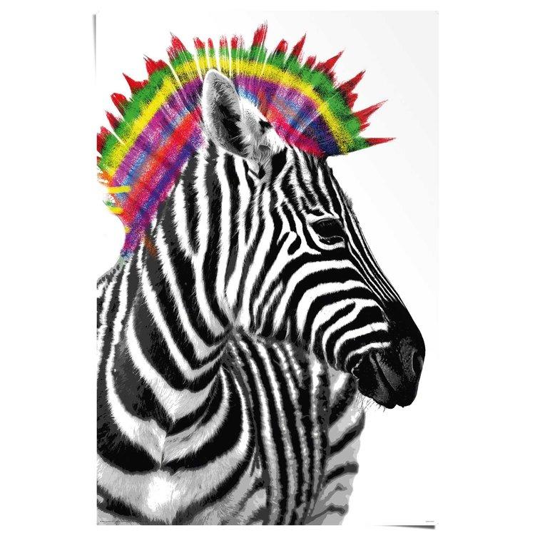 Zebra punker  - Poster 61 x 91.5 cm