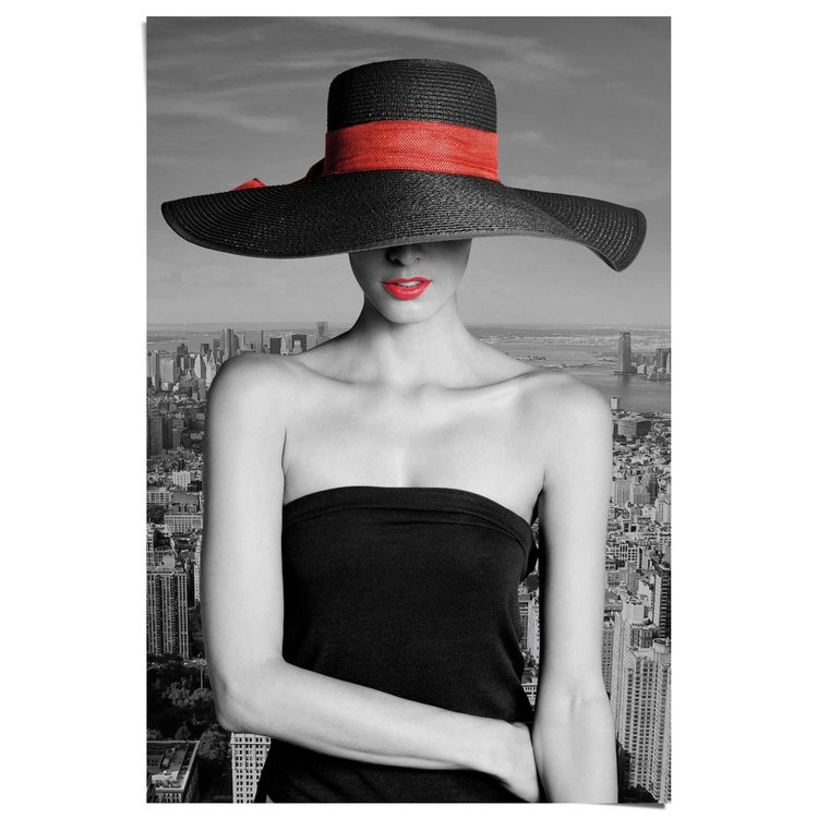 Vrouw in New York  - Poster 61 x 91.5 cm