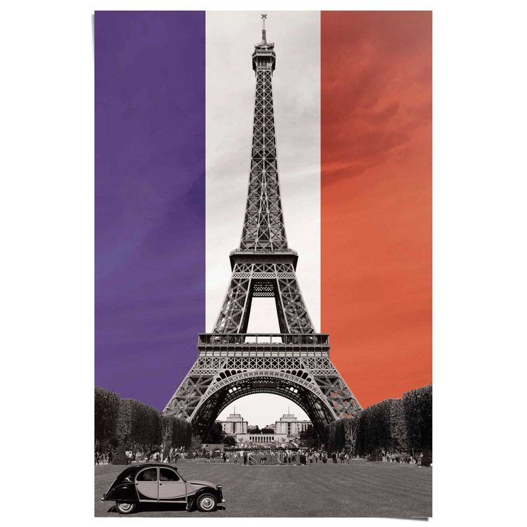 Leve Frankrijk  - Poster 61 x 91.5 cm