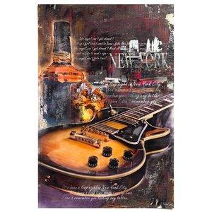 Poster Gitaar en whisky