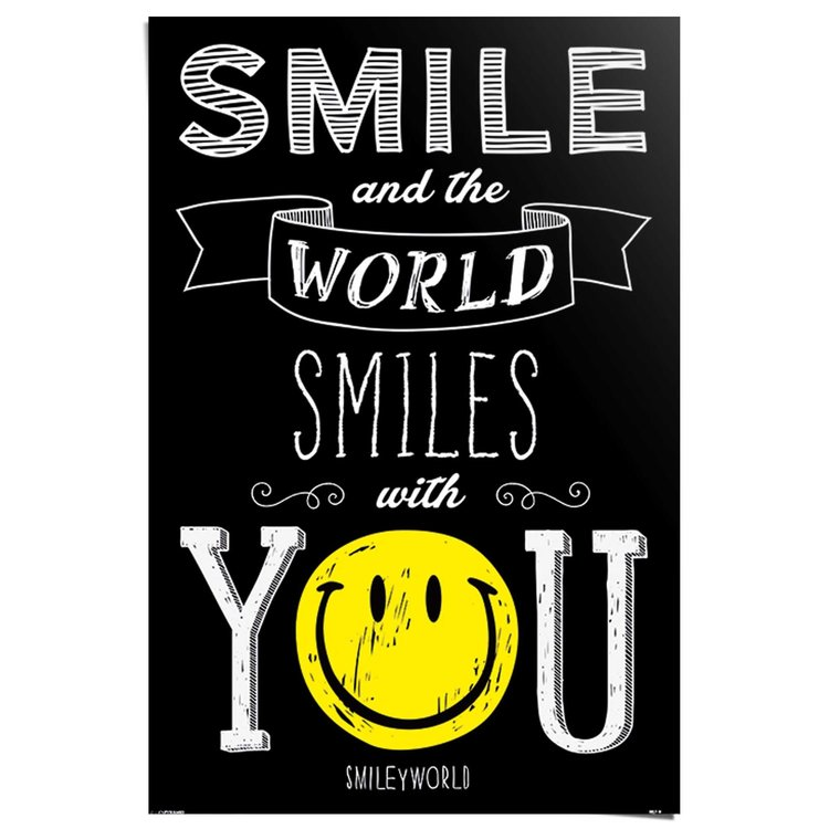 Smiley - world smiles with you  - Poster 61 x 91.5 cm