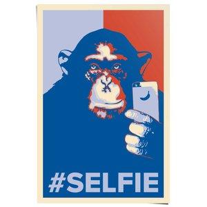 Poster Selfie Monkey