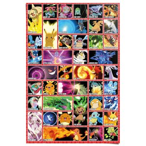 Poster Pokemon - moves