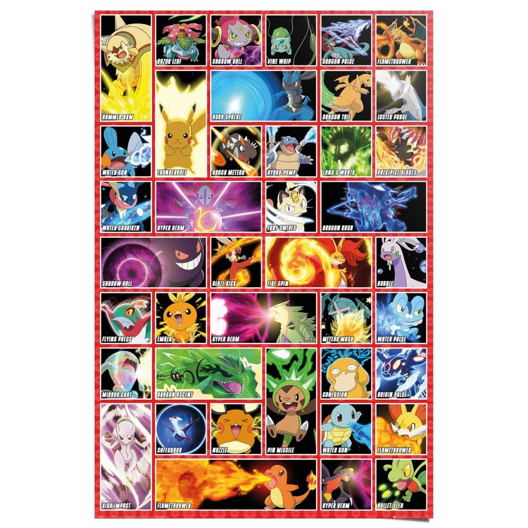 Pokemon - moves  - Poster 61 x 91.5 cm