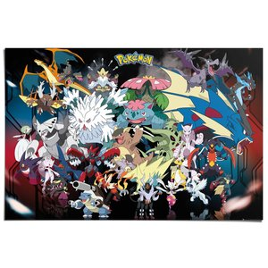 Poster Pokemon - mega