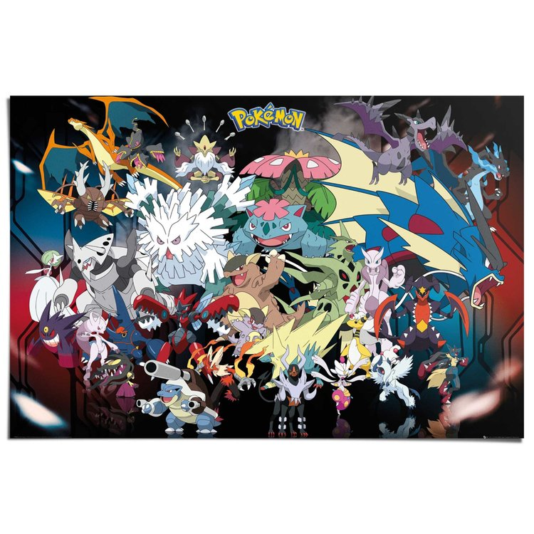 Pokemon - mega  - Poster 91.5 x 61 cm