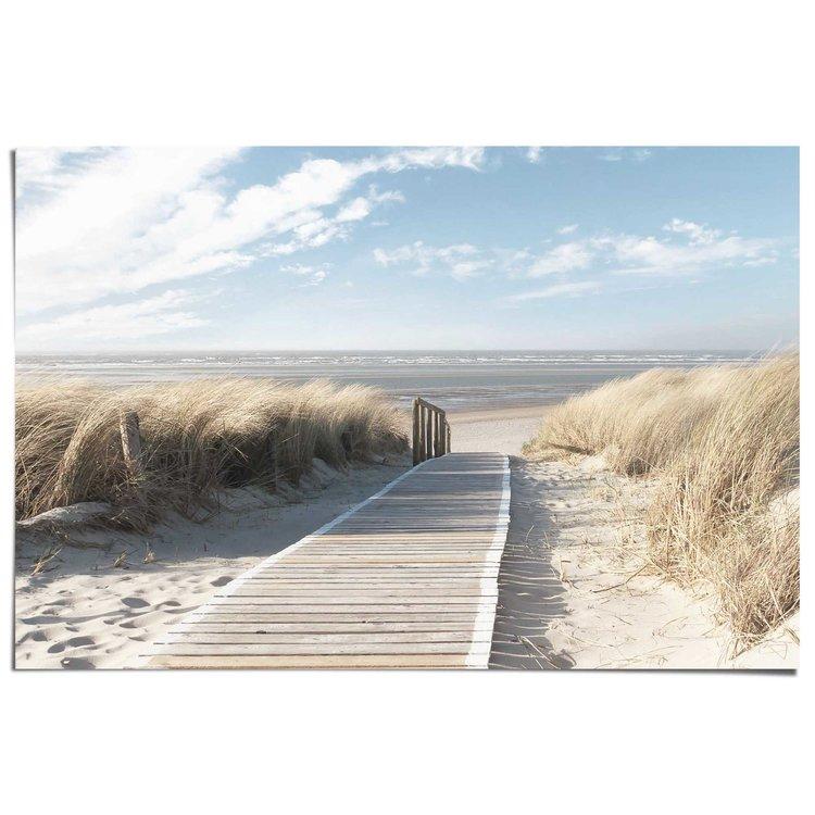 Duinpad naar het strand  - Poster 91.5 x 61 cm
