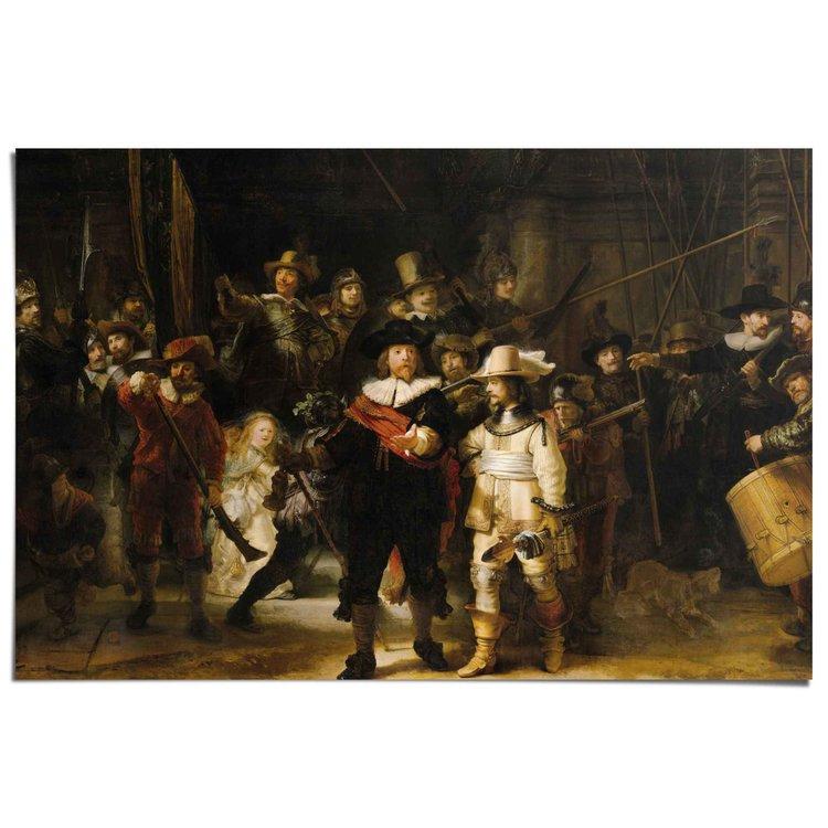 Rembrandt Nachtwacht  - Poster 91.5 x 61 cm