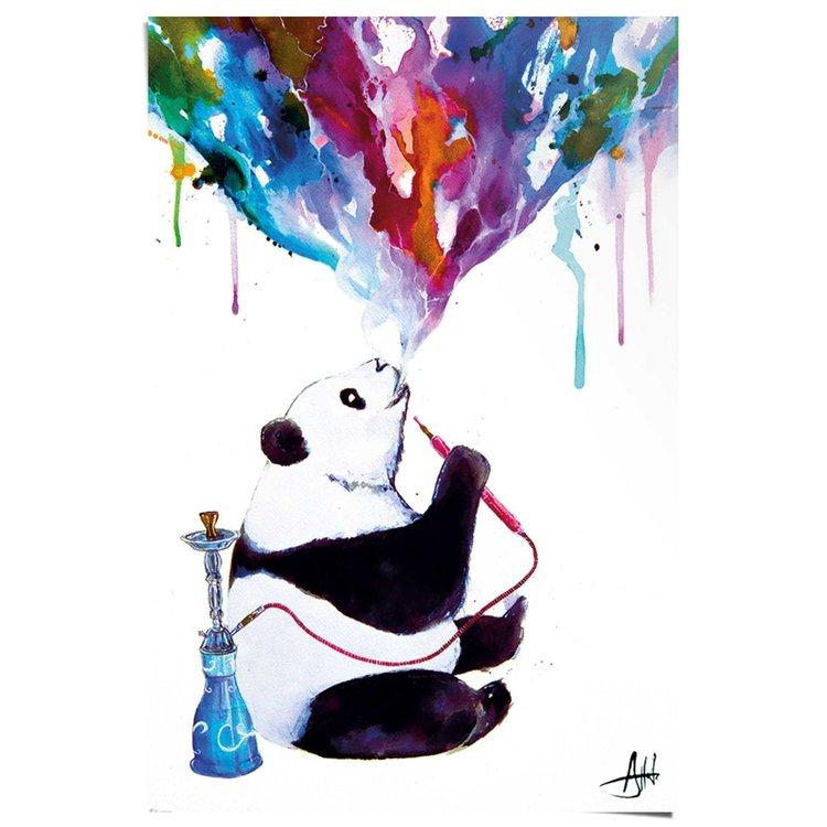 Marc Allante Panda Aquarel  - Poster 61 x 91.5 cm