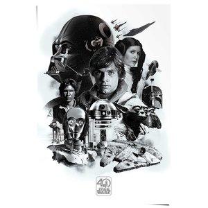 Poster Star Wars 40 jaar