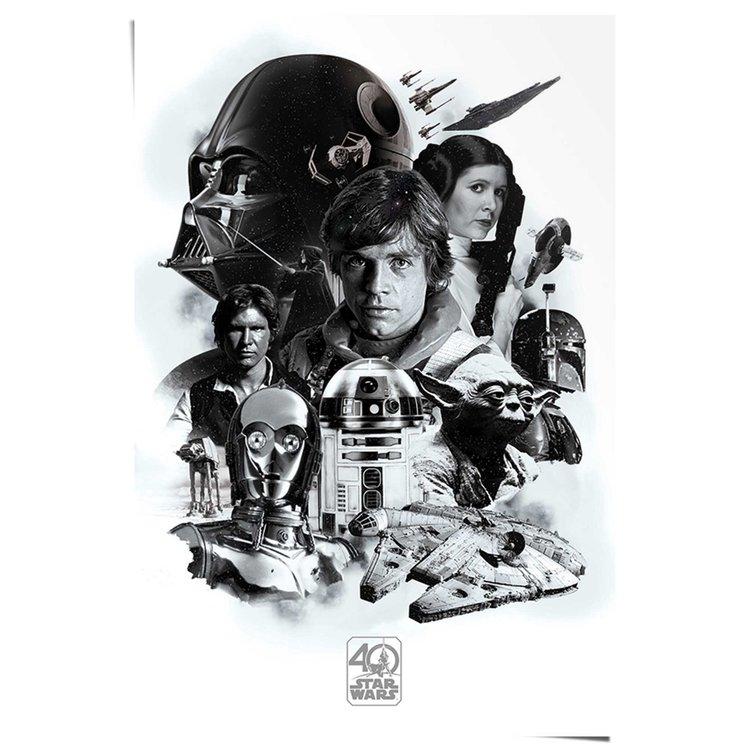 Star Wars 40 jaar - Poster 61 x 91.5 cm
