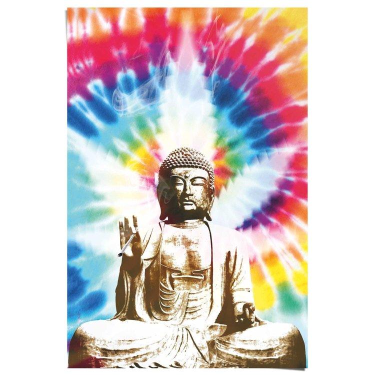 Rokende Boeddha  - Poster 61 x 91.5 cm