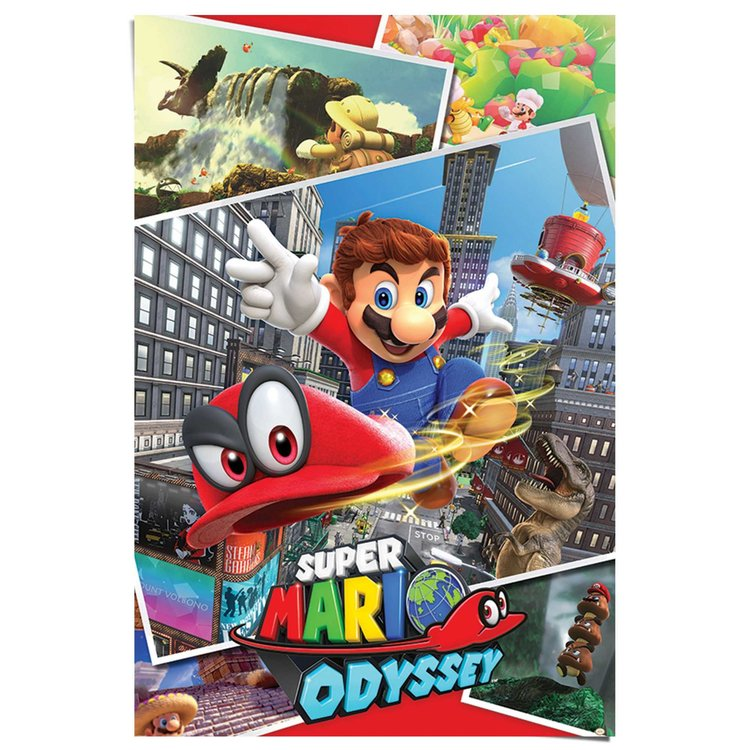 Super Mario - Odyssey  - Poster 61 x 91.5 cm
