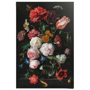 Poster Jan Davidsz de Heem - Stilleven met bloemen