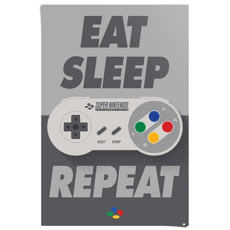 Nintendo eat sleep repeat - Poster 61 x 91.5 cm
