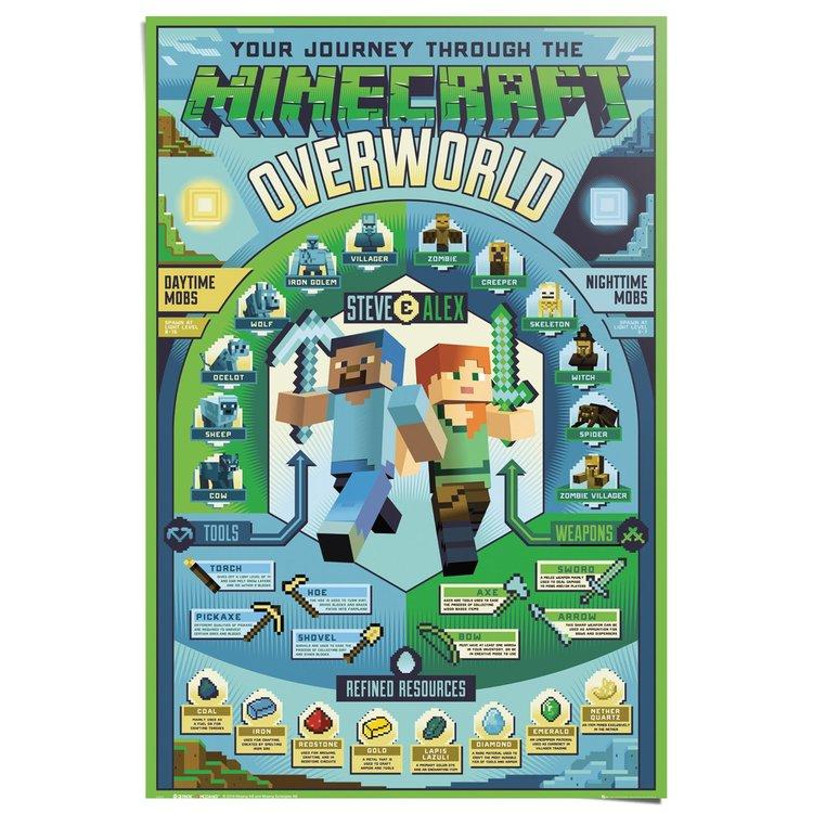 Minecraft Overworld - Poster 61 x 91.5 cm