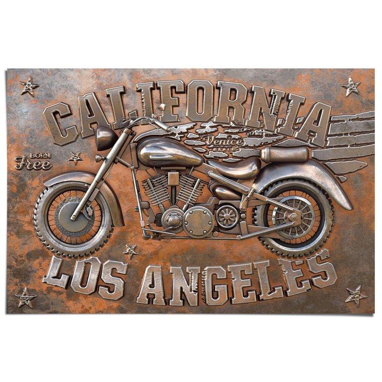 Motorfiets Born Free - Poster 91.5 x 61 cm