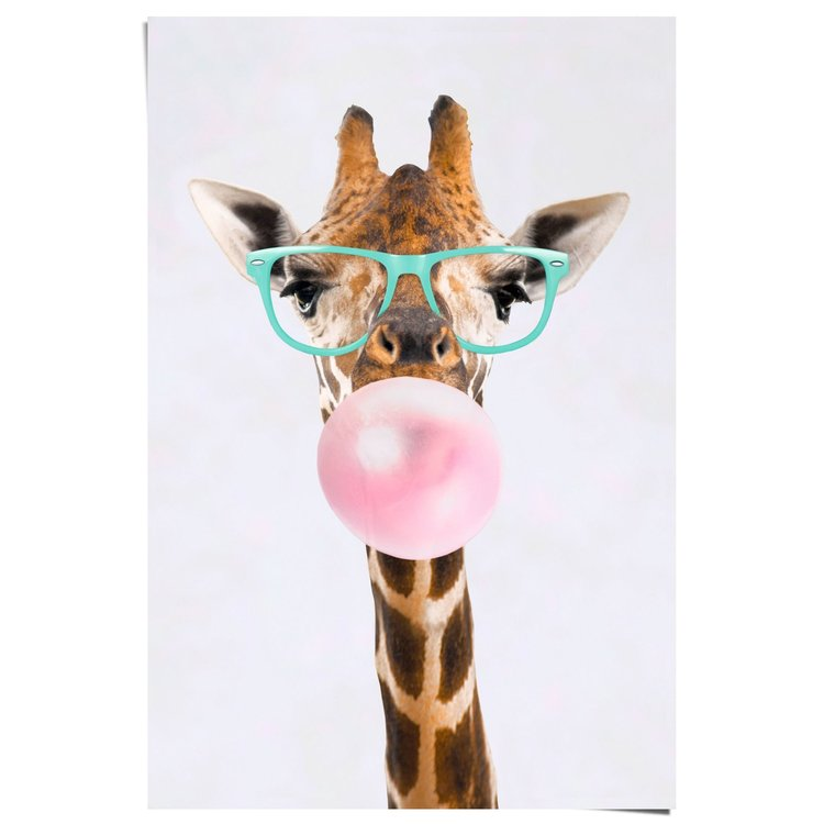 Giraffe Bubblegum - Poster 61 x 91.5 cm