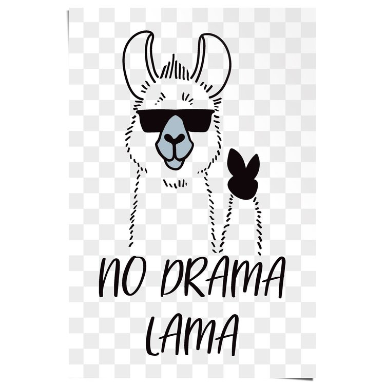 No Drama Lama - Poster 61 x 91.5 cm