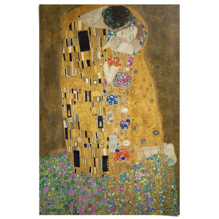 Gustav Klimt De Kus - Poster 61 x 91.5 cm