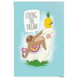 Poster Luiaard en Lama