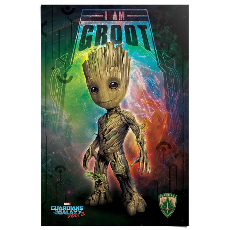 Guardians Of The Galaxy I am Groot - Poster 61 x 91.5 cm