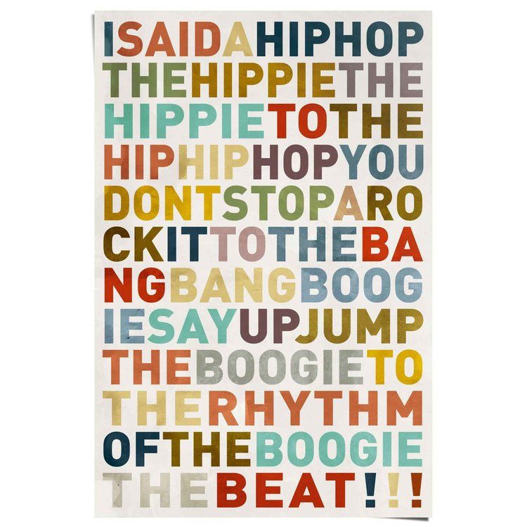 Songtekst Kleurrijk hiphop songtekst - Poster 61 x 91.5 cm