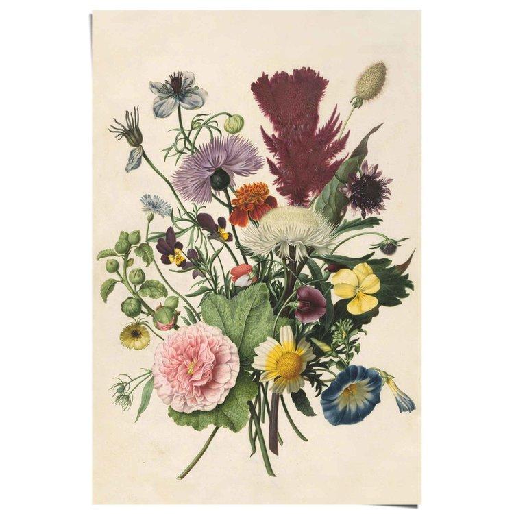 Bloemen boeket - Poster 61 x 91.5 cm
