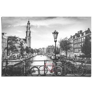 Poster De Amsterdamse grachten Zwart-wit