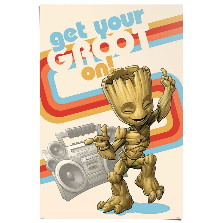 Get your Groot on Guardians of the Galaxy - I am Groot - Baby Groot - Poster 61 x 91 cm