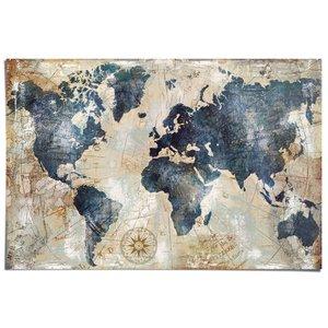 Poster Wereldkaart Vintage Look