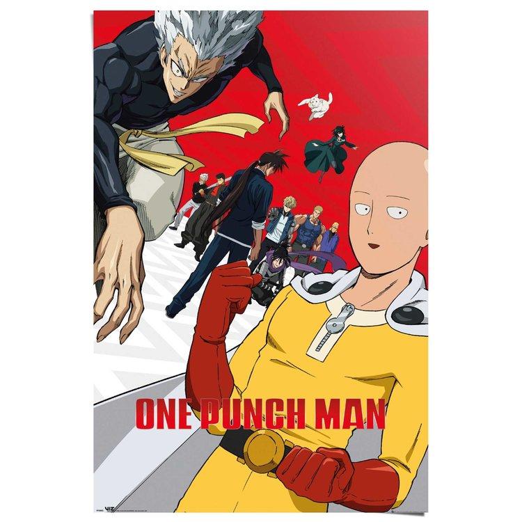 One Punch Man  Japan - Webcomic - Manga - Superheld Saitama - Poster Poster 61 x 91 cm