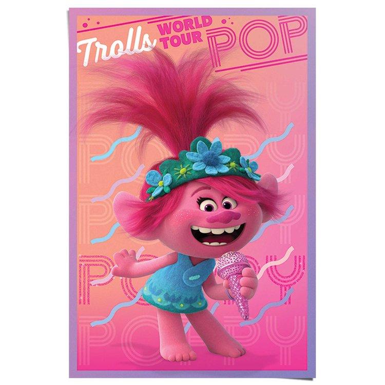 Trolls wereld Tour - Poppy  Prinses - avontuur - muziek - trollenwereld  - Poster Poster 61 x 91 cm