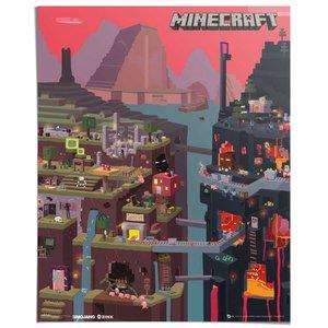 Poster Minecraft Wereld